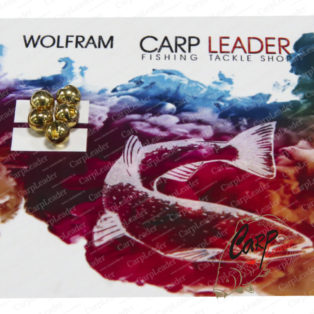 Головки вольфрамовые CarpLeader с вырезом Gold 4,5 мм. 0,75 гр. 5 шт