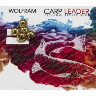 Головки вольфрамовые CarpLeader с вырезом Gold 5,5 мм. 1,3 гр. 5 шт