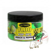 Бойлы плавающие Fun Fishing Fluo Pop Ups Blanc / Peah Pepper 12mm