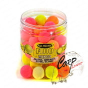 Бойлы плавающие без запаха Fun Fishing Fluo Pop Up New Mixed 12mm Rose, Jaune, Orange et Blanc 60pcs
