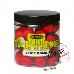 Бойлы плавающие Fun Fishing Fluo Pop Ups Rouge / Spice Bomb 12mm