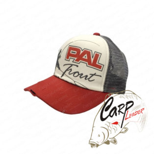 Бейсболка Zetrix PAL Trout Cap PTC-1701 Red Beak / Gray Mesh