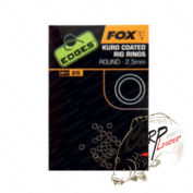 Кольца соединительные Fox Edges Kuro Coated Rig Rings - 3.2mm Medium