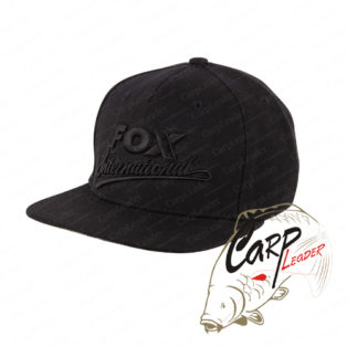 Бейсболка Fox International Black Snapback Cap