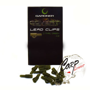 Безопасная клипса для грузил Gardner Covert Lead Clips C-Thru Green 12 шт.