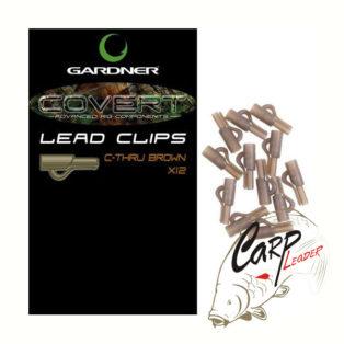 Безопасная клипса для грузил Gardner Covert Lead Clips C-Thru Brown 12 шт.