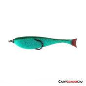 Поролоновая рыбка Контакт с двойником 12 см. зелёная