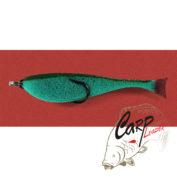 Поролоновая рыбка Контакт с двойником 8 см. зелёная