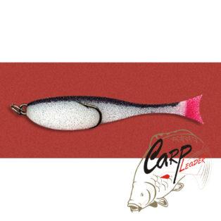 Поролоновая рыбка Контакт с двойником 12 см. бело-черная