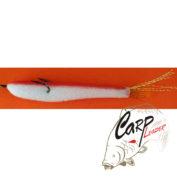 Поролоновая рыбка Контакт откр. двойник 8 см. бело-красная