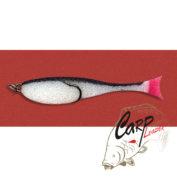 Поролоновая рыбка Контакт с двойником 8 см. бело-черная