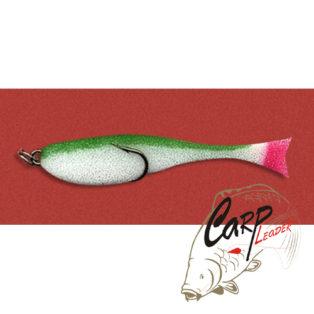 Поролоновая рыбка Контакт с двойником 8 см. бело-зеленая