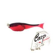 Поролоновая рыбка Контакт с двойником 10 см. красно-черная