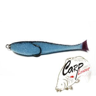 Поролоновая рыбка Контакт с двойником 10 см. сине-черная