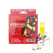Шнур Yamatoyo PE Strong 8 150m 2.5 40lb Yellow