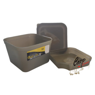 Контейнер Avid Carp Bait Tub Deep Size Tub With Lid & Divider