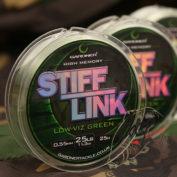 Поводковый материал Gardner Stiff-Link 25lb 11.3kg 0.55mm Low-Viz Gree