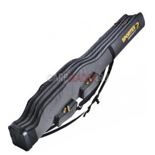 Чехол для 2-4 удилищ 2 отсека Sportex Super Safe Rod Bag 1.50 м. с доп. карманами Серый
