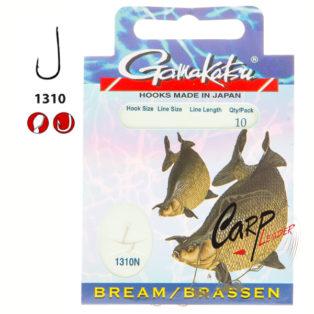 Готовые поводки Gamakatsu Hook BKD-1310N Bream №14 леска 0.12 70 см.