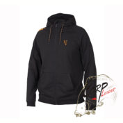 Толстовка с капюшоном Fox Collection Orange & Black LightweigТолстовка с капюшоном Fox Collection Orange & Black Lightweight Hoodie Lht Hoodie L