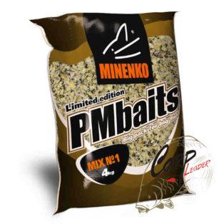 Прикормка зерновая Миненко PMbaits Big Pack Ready To Use Crushed Mix №1 Natural (конопля+кукуруза)