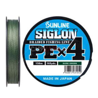Шнур Sunline Siglon PE X4 150m Dark Green