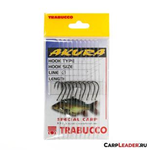 Набор крючков с поводками Trabucco Akura Carpa