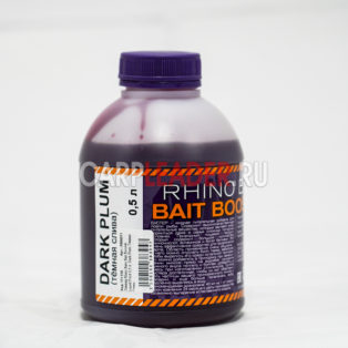 Ликвид Rhino Baits Bait Booster Liquid Food 0,5 л. Dark Plum Тёмная Слива