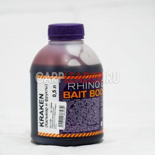 Ликвид Rhino Baits Bait Booster Liquid Food 0,5 л. Kraken Кальмар и Фрукты