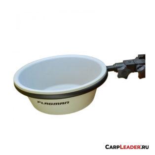 Таз для прикормки с креплением на платформу Flagman d 25 см. 19х25х30 мм.