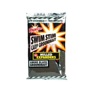Прикормка Dynamite Baits Swim Stim - Milled Expanders Amino Black 750 гр.