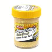 Паста форелевая Berkley Extra Scent Glitter Trout Bait Yellow 50 гр.