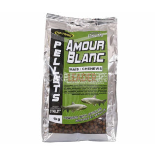 Пеллетс Fun Fishing Amour Blanc Pellets 6mm 700g Mais/Chenevis кукуруза конопля