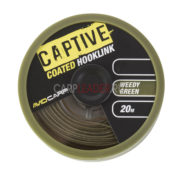 Поводковый материал Avid Carp Captive Coated Hooklink 35Lb Weddy Green