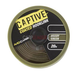 Поводковый материал Avid Carp Captive Coated Hooklink 35Lb Weddy Green