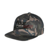 Бейсболка Fox Camo Flat Peak College Snapback