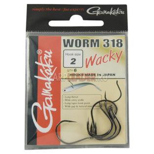 Крючки Gamakatsu Worm 318 Wacky