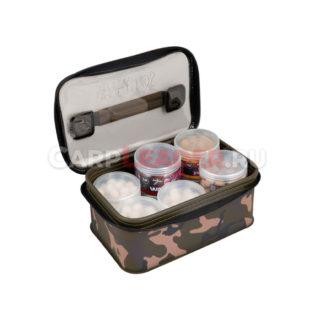 Водонепроницаемая сумка Fox Aquos Camo Bait Storage L для хранения насадок в банках