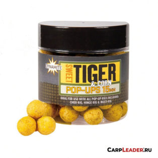 Бойлы плав. Dynamite Baits 15 мм. Sweet Tiger & Corn