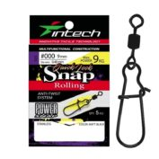Застежка с вертлюжком Intech Quick lock Snap Rolling Matt Black