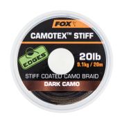 Поводковый материал в мягкой оплетке Fox Edges Camotex Stiff — Dark Stiff 20lb — 20m