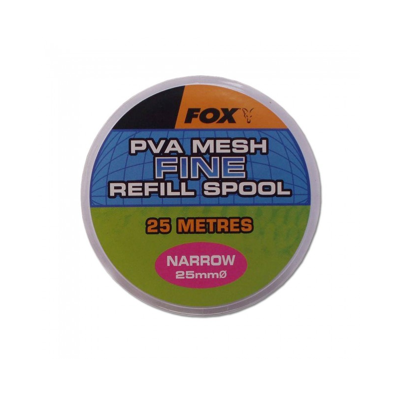 ПВА медленно растворимая сетка Fox Narrow 25m/25mm Refill Spool Fine Mesh PVA