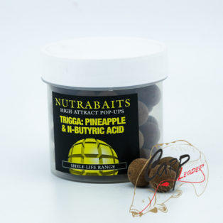 Бойлы плавающие Nutrabaits 15мм Trigga: Pineapple & N-Butyric Pop Ups
