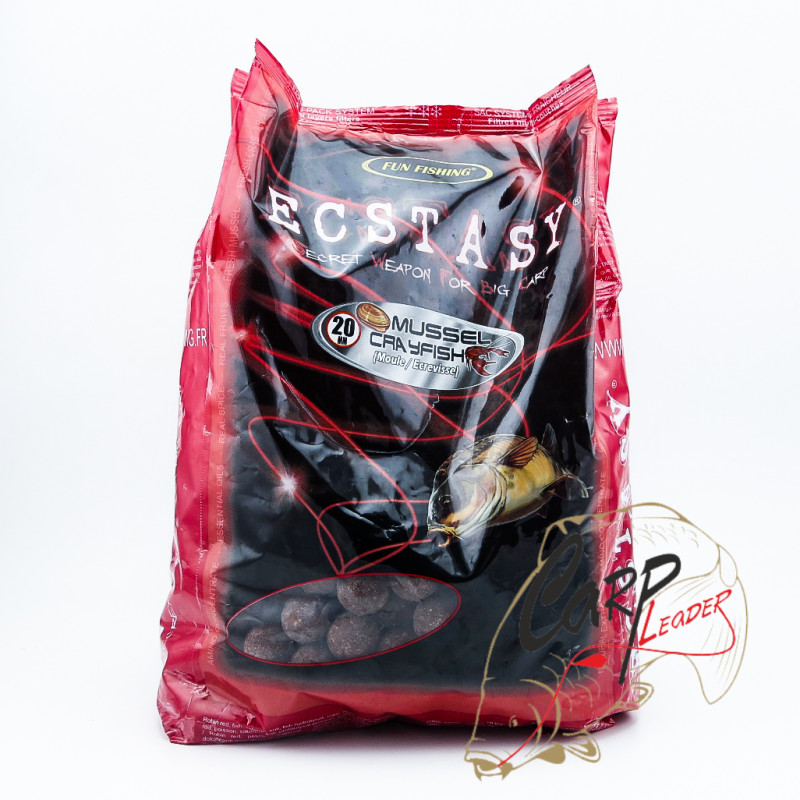 Бойлы Fun Fishing 20 mm-2 kg Ecstasy-Bouillettes-Mussel Clayfish Moule Ecrevisse