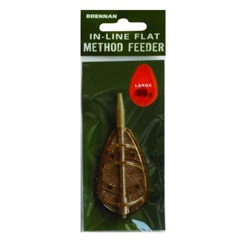 Кормушка фидерная Drennan In-Line Flat Method Feeder L 45g