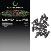 Безопасная клипса Gardner Covert Lead Clips Black/Silt 12шт.