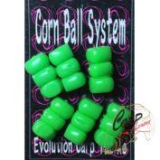 Искусственная плавающая приманка Evolution Corn Ball Stacks Green 6 шт.