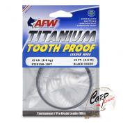 Поводковый материал AFW Titanium Tooth Proof Black Oxide STI015B 6.8кг 4.6м