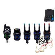 Набор электронных сигнализаторов поклевки с пейджером Hoxwell New Direction — K9/R9 3+1