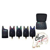Набор электронных сигнализаторов поклевки с пейджером Hoxwell HL 40 4+1